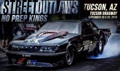 Team Texas' Mike Murillo's race car in a Street Outlaws No Prep Kings poster