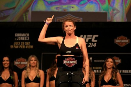MMA fighter Tonya Evinger during weigh-ins for UFC 214