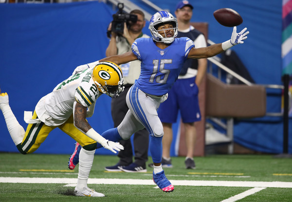 Then-Green Bay Packers safety (Ha'Sean) Ha Ha Clinton-Dix playing defense against the Detroit Lions