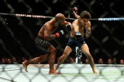 MMA fighter Demetrious Johnson fighting Henry Cejudo at UFC 227
