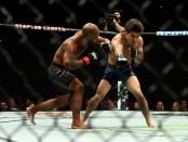 MMA fighter Demetrious Johnson fighting Henry Cejudo at UFC 227