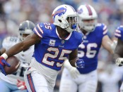 Buffalo Bills running back LeSean McCoy rushes the ball against the Tennessee Titans