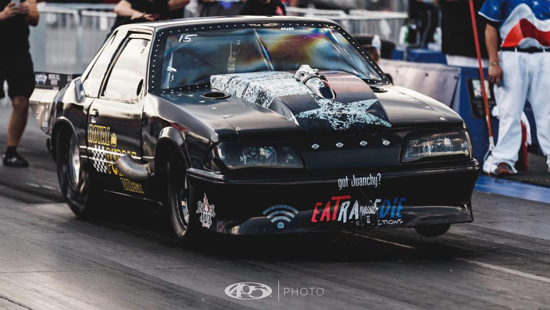 Street Outlaws No Prep Kings star Mike Murillo competing in a race