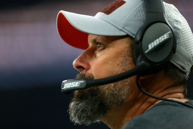 Former Cleveland Browns offensive coordinator Todd Haley looks on against the New Orleans Saints
