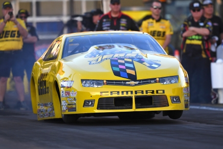 Coughlin Jr. has provisional lead at the Auto Club NHRAFinals