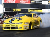 JEGS.com/Elite Performance Pro Stock driver Jeg Coughlin Jr. racing on Saturday at the Auto Club NHRA Finals