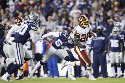 Redskins' Peterson injured on Thanksgiving
