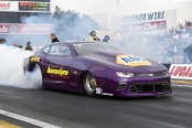 Mountain View Tire & Auto Center Pro Stock driver Vincent Nobile racing during the NHRA season-opener in February