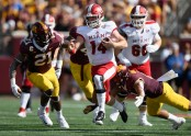 Miami (Ohio) RedHawks quarterback Gus Ragland running the ball against the Minnesota Golden Gophers