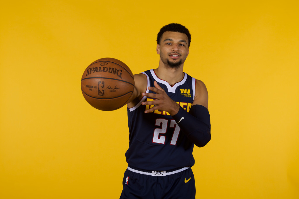 Guard Jamal Murray during the Denver Nuggets Media Day