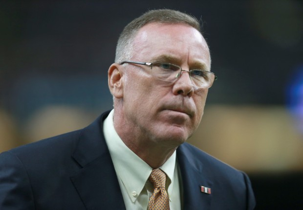 Cleveland Browns general manager John Dorsey on the sidelines prior to the New Orleans Saints game
