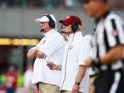Former UMASS Minutemen head coach Mark Whipple looks on against the Georgia Southern Eagles