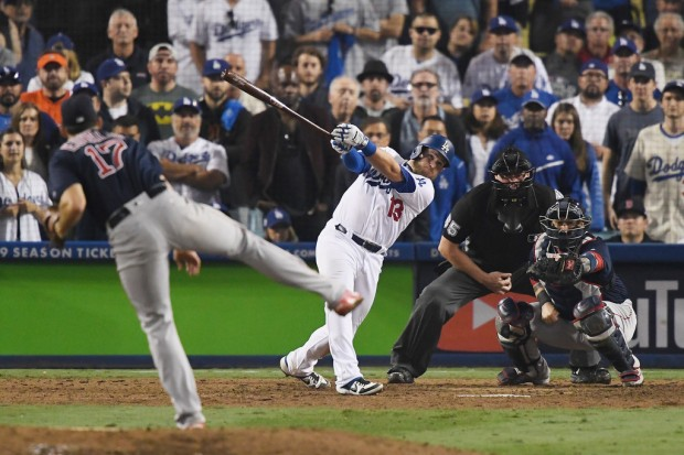 Former Boston Red Sox pitcher Nathan Eovaldi pitching against the Los Angeles Dodgers in the World Series