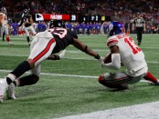 New York Giants wide receiver Odell Beckham Jr. converting a two-point conversion against the Atlanta Falcons