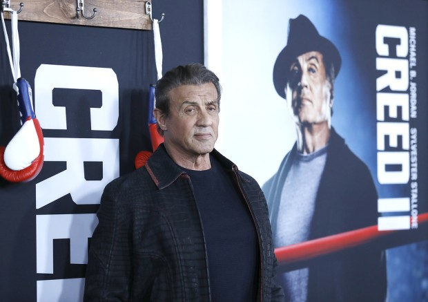 Rocky/Creed actor Sylvester Stallone attends the Creed II premiere in New York City