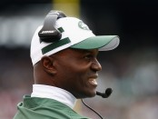 New York Jets head coach Todd Bowles looks on as he coaches against the Indianapolis Colts