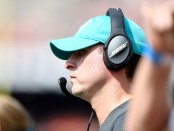 Miami Dolphins head coach Adam Gase watches his team against the Cincinnati Bengals