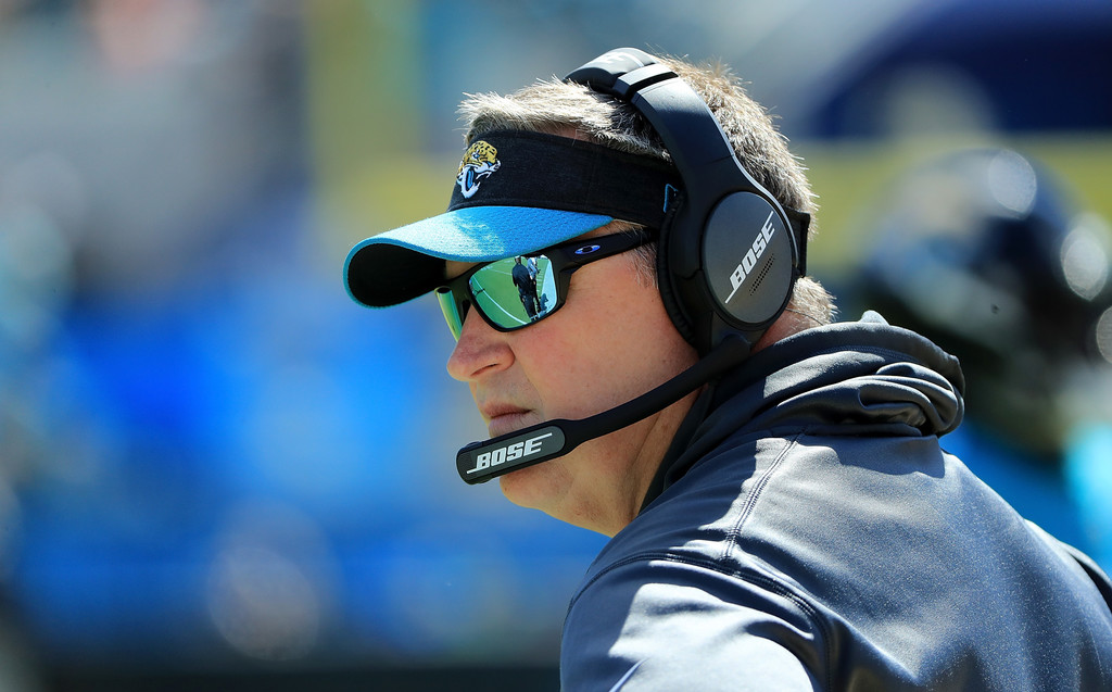 Jacksonville Jaguars head coach Doug Marrone looks on against the Houston Texans