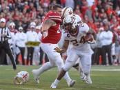 Minnesota Golden Gophers running back Mohamed Ibrahim rushing the ball against the Nebraska Cornhuskers