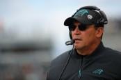 Carolina Panthers head coach Ron Rivera looks on against the Philadelphia Eagles