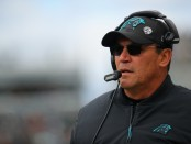Carolina Panthers head coach Ron Rivera looks on against the Philadelphia Eagles