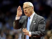 North Carolina Tar Heels head coach Roy Williams reacts during a play against the Texas A&M Aggies in the 2018 Men's Basketball Tournament second-round game