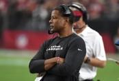 Arizona Cardinals head coach Steve Wilks looking on against the Seattle Seahawks