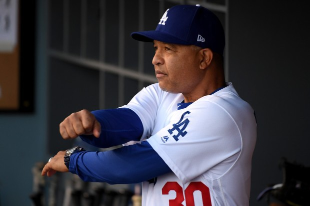 Los Angeles Dodgers manager Dave Roberts looks on before World Series Game 3 against the Boston Red Sox