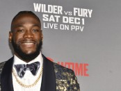 "Professional boxer Deontay Wilder attends the ""Wilder vs. Fury"" Premiere at the Staples Center"