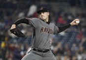 Former Arizona Diamondbacks pitcher Patrick Corbin pitching against the San Diego Padres