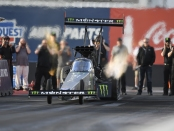 Monster Energy Top Fuel Dragster pilot Brittany Force during the 2018 Phoenix testing