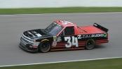 NASCAR Camping World Truck Series driver Jesse Iwuji racing in the Chevrolet Silverado 250