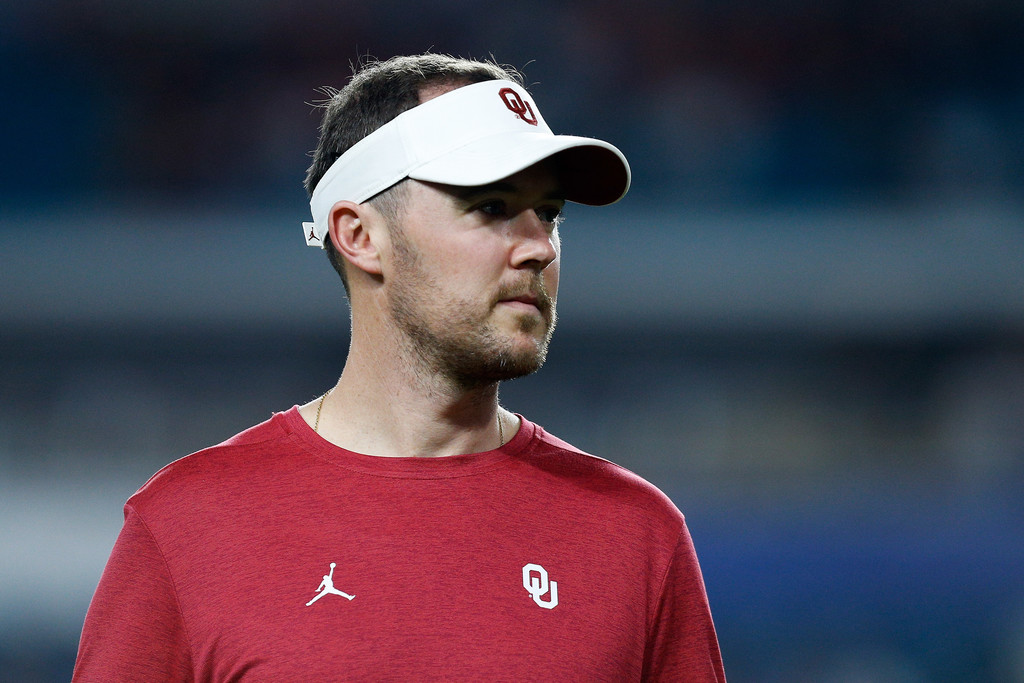 Oklahoma Sooners head coach Lincoln Riley looks on prior to the College Football Playoff Semifinal game against the Alabama Crimson Tide