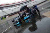 Monster Energy NASCAR Cup Series driver Chad Finchum has his car pushed down pit lane in the Food City 500
