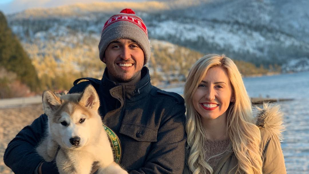 NHRA Funny Car pilot Courtney Force celebrates Christmas with her IndyCar husband Graham Rahal and their dog