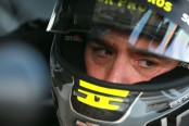 NASCAR Monster Energy NASCAR Cup Series driver Jimmie Johnson sits in his car during qualifying at the Hollywood Casino 400