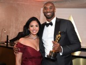 Los Angeles Lakers legend Kobe Bryant and his wife Vanessa Bryant attend the 90th Annual Academy Awards Governors Ball