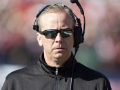Former Southern Miss. Golden Eagles head coach Todd Monken on the sidelines against the Western Kentucky Hilltoppers