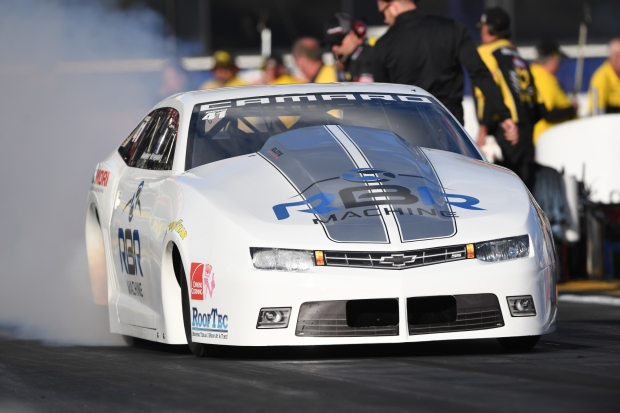 Pro Stock driver Rodger Brogdon racing on Saturday at the Lucas Oil NHRA Winternationals