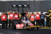 Top Fuel Dragster pilot Doug Kalitta racing on Sunday during eliminations of his lone win of the season