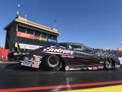 Jim Butner Auto Group's Pro Stock driver Bo Butner racing on Saturday at the 2019 NHRA Arizona Nationals