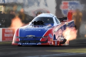 Auto Club of Southern California Funny Car pilot Robert Hight racing on Saturday at the 2019 NHRA Arizona Nationals