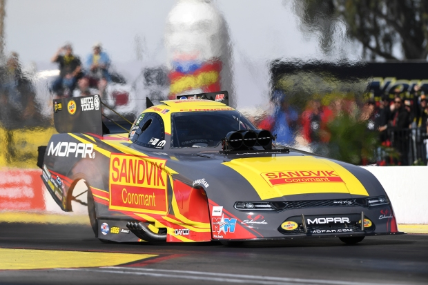 Sandvik Coromant sponsored Funny Car pilot Matt Hagan racing on Sunday at the 2019 NHRA Arizona Nationals