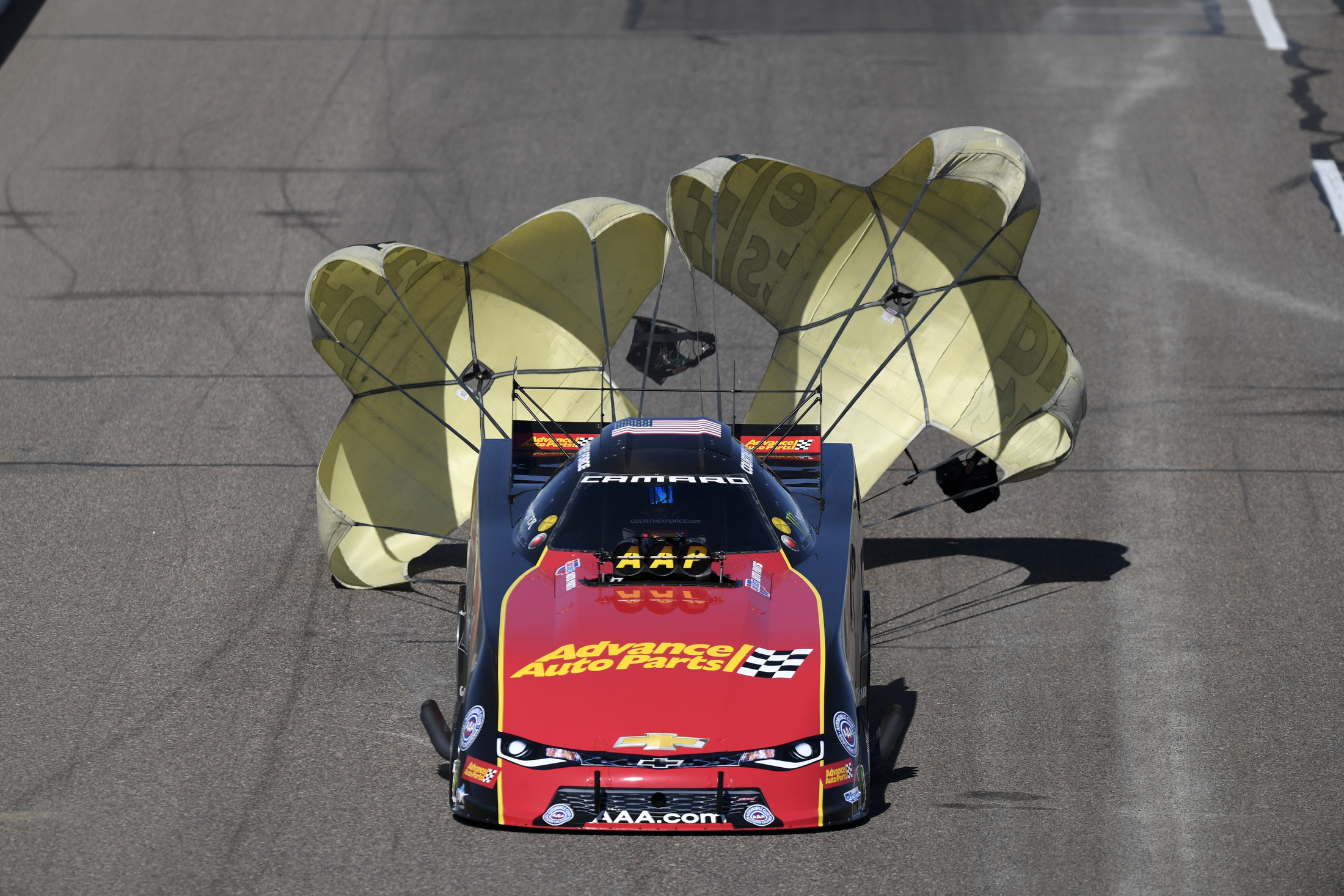 Former Funny Car pilot Courtney Force racing on Sunday at the 2018 NHRA Arizona Nationals