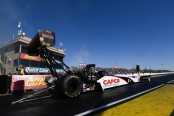 Top Fuel Dragster pilot Steve Torrence racing on Sunday at Wild Horse Pass Motorsports Park