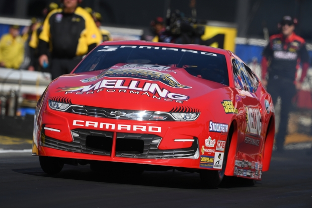 Pro Stock driver Erica Enders-Stevens racing on Friday at the Lucas Oil NHRA Winternationals