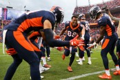 Former Denver Broncos wide receiver Demaryius Thomas coming out to the field during introductions against the Kansas City Chiefs