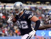 Dallas Cowboys tight end Jason Witten catches a touchdown against the New York Giants
