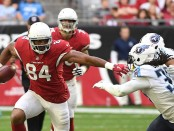 Arizona Cardinals tight end Jermaine Gresham rushes with the ball after making a reception against the Tennessee Titans