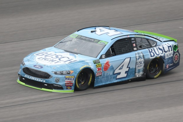 NASCAR driver Kevin Harvick during practice of the Monster Energy NASCAR Cup Series Hollywood Casino 400